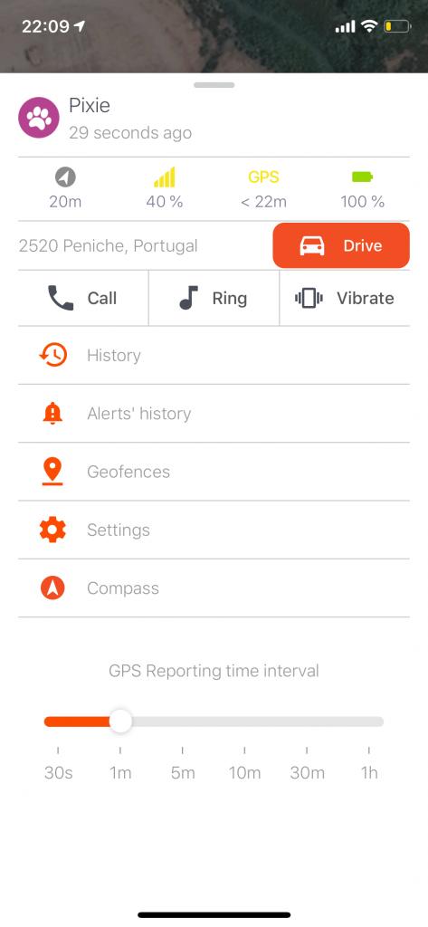 Weenect app screenshot
